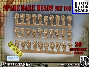 1/32 BareHeads Set101 in Smooth Fine Detail Plastic