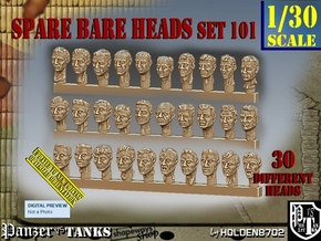 1/30 BareHeads Set101 in Smooth Fine Detail Plastic