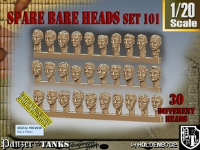 1/20 BareHeads Set101 in Smooth Fine Detail Plastic