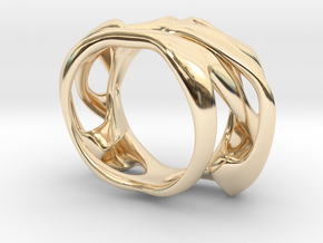 Uranie Ring in 14k Gold Plated Brass: 3 / 44