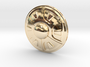 Flying Saucer in 14k Gold Plated Brass