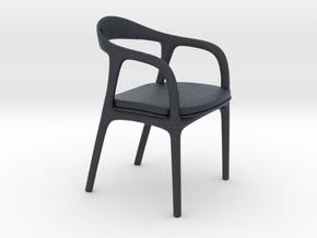 Miniature Neva Chair - Artisan in Black Professional Plastic: 1:12