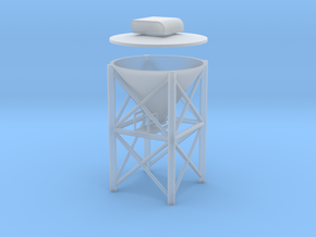 """'N Scale' - 1"""" PVC Dust Collector in Smooth Fine Detail Plastic"""