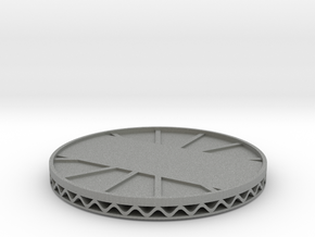 coaster engrave style 2 in Gray Professional Plastic