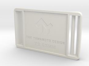 Limpet tablet handler ergonomic in White Natural Versatile Plastic: Extra Small