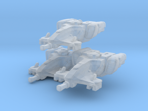 Tau devilfish WH40k EPIC micro 3 models in Smooth Fine Detail Plastic
