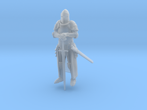 Knight / high detail miniature in Smoothest Fine Detail Plastic