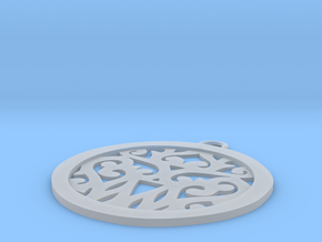 Elaine pendant in Smooth Fine Detail Plastic: Small