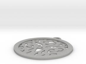 Elaine pendant in Aluminum: Small