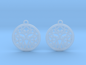 Elaine earrings in Smooth Fine Detail Plastic: Small