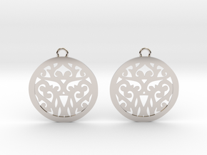 Elaine earrings in Rhodium Plated Brass: Small