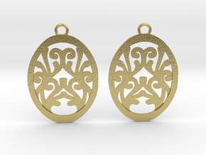 Olwen earrings in Natural Brass: Small