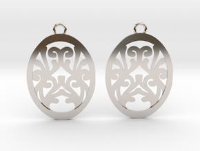 Olwen earrings in Rhodium Plated Brass: Small