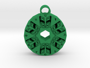time is money pendant 1 in Green Processed Versatile Plastic