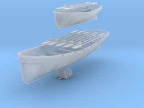 1/87 DKM 8m & 6m Long Boats Set in Smooth Fine Detail Plastic