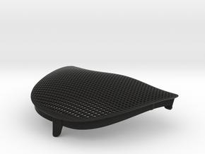 986 Passenger Side Mesh Grille Wind Diffuser in Black Natural Versatile Plastic
