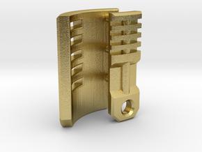 Graflex Mentor - Var2 Part03 - Blade Holder Style1 in Natural Brass