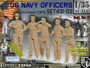 1/35 USN Officers Set431-03 in Smooth Fine Detail Plastic