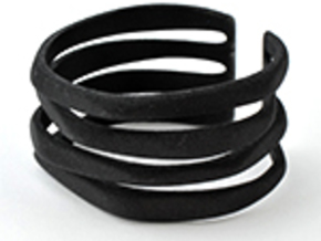 Rocker Coil Bracelet in Black Natural Versatile Plastic