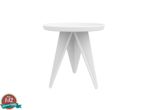 Miniature Q3 Coffee Table - Odesd2  in White Natural Versatile Plastic: 1:12