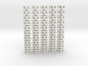 Roof Hex - Smaller(50) 72:1 Scale in White Natural Versatile Plastic