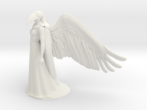 Raven Queen in White Natural Versatile Plastic