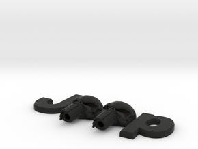 #CuzitsCustom 3D Punisher Skulls (SM-OEM) in Black Premium Versatile Plastic