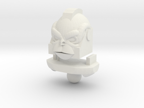Monkey Bot Head in White Natural Versatile Plastic