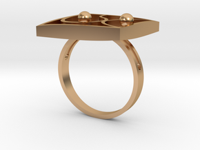 OUTLINE RING size 16 in Polished Bronze