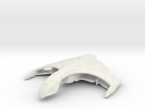 Romulan Ar'kif Tactical Warbird in White Natural Versatile Plastic