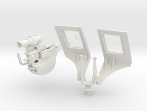 Tusk II 7.62 Machine Gun for Loader on Abrams M1A2 in White Natural Versatile Plastic