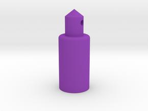 Round Battery Post in Purple Processed Versatile Plastic