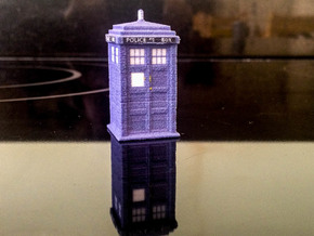 1:76 scale TARDIS in Full Color Sandstone