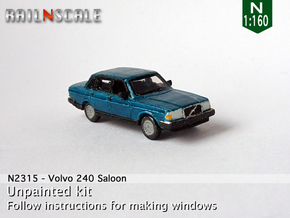 Volvo 240 Saloon (N 1:160) in Smooth Fine Detail Plastic