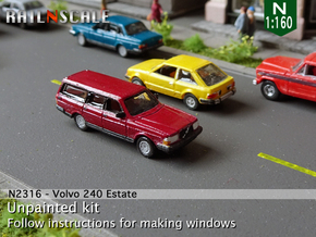 Volvo 240 Estate (N 1:160) in Smooth Fine Detail Plastic