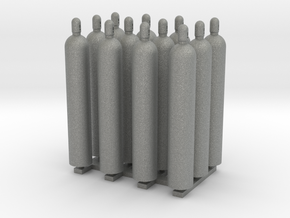 1:48 Gas Cylinders Pack of twelve  in Gray PA12
