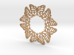 Monarch Butterfly Snowflake Ornament in Natural Bronze
