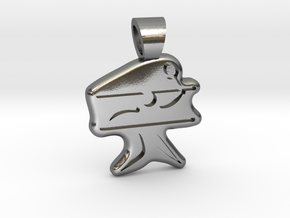 Badminton [pendant] in Polished Silver