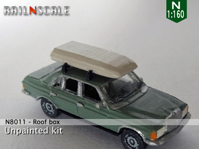 Roof box (N 1:160) in Smooth Fine Detail Plastic