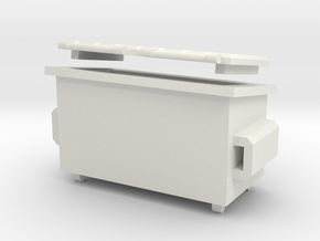 A 026  2 Yard Bin Box in White Natural Versatile Plastic: 1:87 - HO