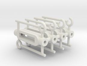 1/16 Turnbuckles in White Natural Versatile Plastic