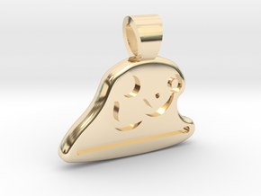 Table tennis [pendant] in 14k Gold Plated Brass