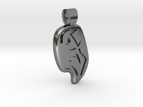 Climbing [pendant] in Polished Silver
