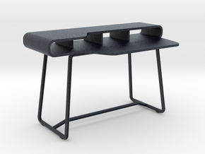 Miniature Cappellini LOOP Writing Desk - Capellini in Black Professional Plastic: 1:12
