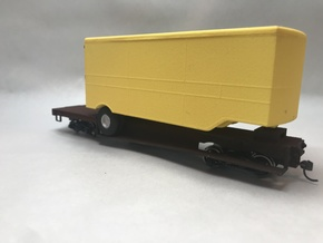 ET&WNC Trailer O Scale in White Natural Versatile Plastic