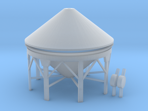 """'N & HO Scale' - Storage Tank - 1"""" PVC in Smooth Fine Detail Plastic"""