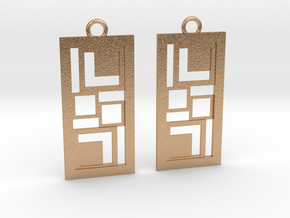 Geometrical earrings no.3 in Natural Bronze: Small