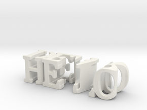 3dWordFlip: hello/dear in White Natural Versatile Plastic