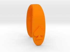SLIM SPADE KEY FOB in Orange Processed Versatile Plastic