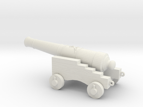 cannon for pirate ships in White Natural Versatile Plastic